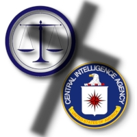 Scales of Justice image by jpornelasadv from Pixabay. The CIA seal is in the public domain.