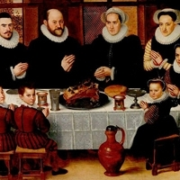 A family saying grace before a meal by Antoon Claeissens   Wikipedia