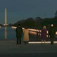 National COVID-19 Memorial Cerimony. Lincoln Memorial, Washington DC. Public domain image via C-SPAN