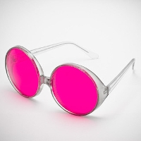 Rose colored glasses. Photo by flckr user Pangalactic Gargleblaster, shared under a Creative Commons By Attribution 4.0 license