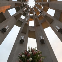 Interior view of the Tower of Voices at the Flight 93 National Memorial. Public Domain image by National Park ServiceP/K. Cordek