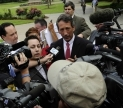 Former Gov. Mark Sanford, (R-S.C.) in press gaggle. Image courtesy of Netflix