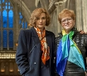 Rachel Weise and Dr. Deborah Lipstadt pictured during the filming of