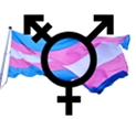 ITrans gender flag and symbol. Image created by Kevin McCarthy, derived from photograph by flickr user torbakhopper. Original photo and this illiustration shared under CCBY