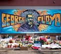 George Floyd mural and memorial – on the site of his murder – in Minneapolis MN. Image by Lorie Shaull, via flickr, shared under Creative Commons Attribution version 2.0 license.