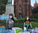 Volunteers supporting protesters in fron ot Luther Place Memorial Church in Washington DC. June 2nd, 2020. Amber Kahn