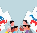 Republicans and Democrats. Image by James Boast and shared under a Creative Commons By Atribution Noncomercial Share Alike license.