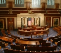 The House of Repressentatives chamber in the United States Capital. Public domain Image from history.house.gov