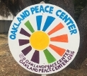 Oakland Peace Center sign. Courtesy Oakland Peace Center