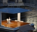 Pope Fraincis prays in an empty St. Peters Square. Pool photo by Yara Nardi