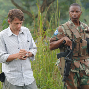 Journalist Bryan Mealer is pictured with UN Peackeeping Force Col. Tyhalisi